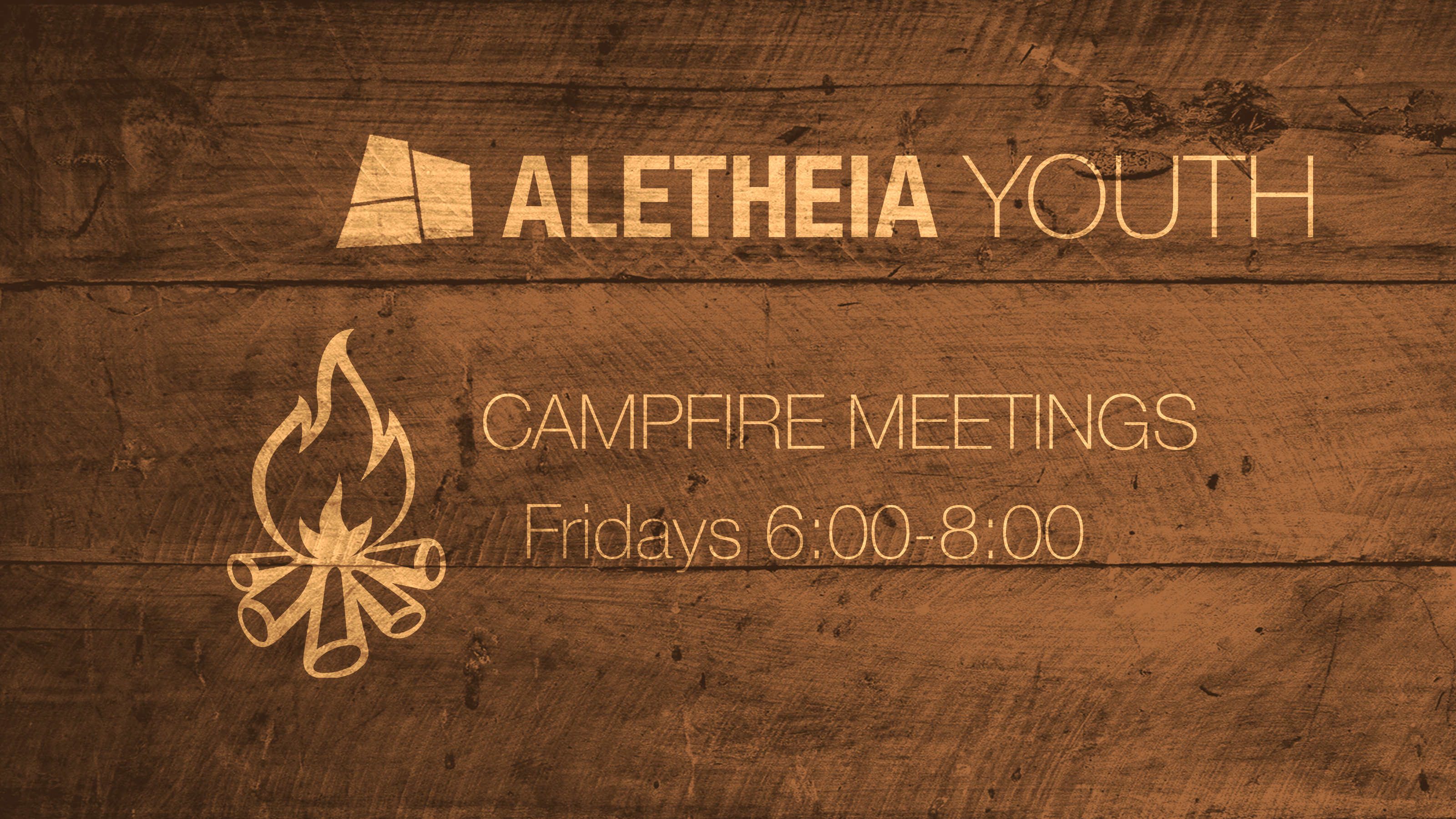 Aletheia Youth Fall Campfire Meetings 2020 image