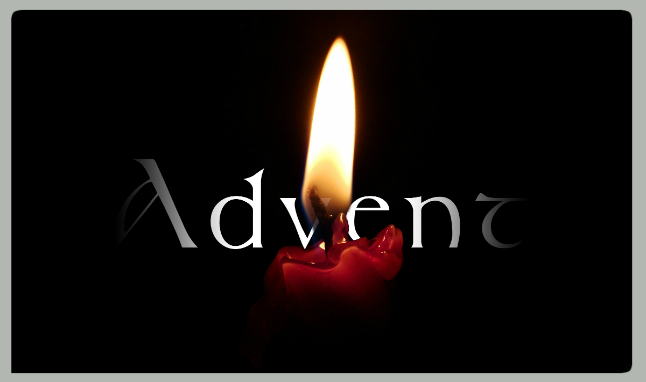 advent candle web