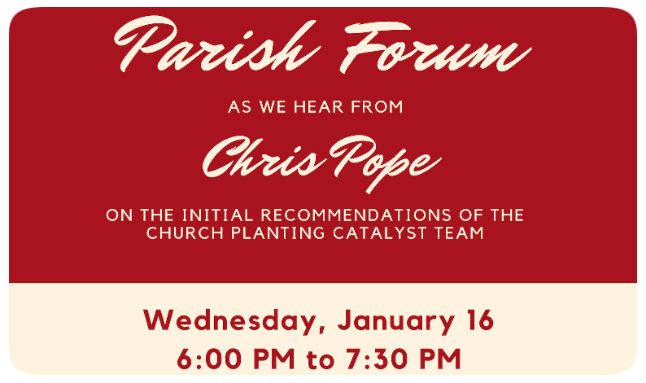 Parish Forum Church Planting 2019
