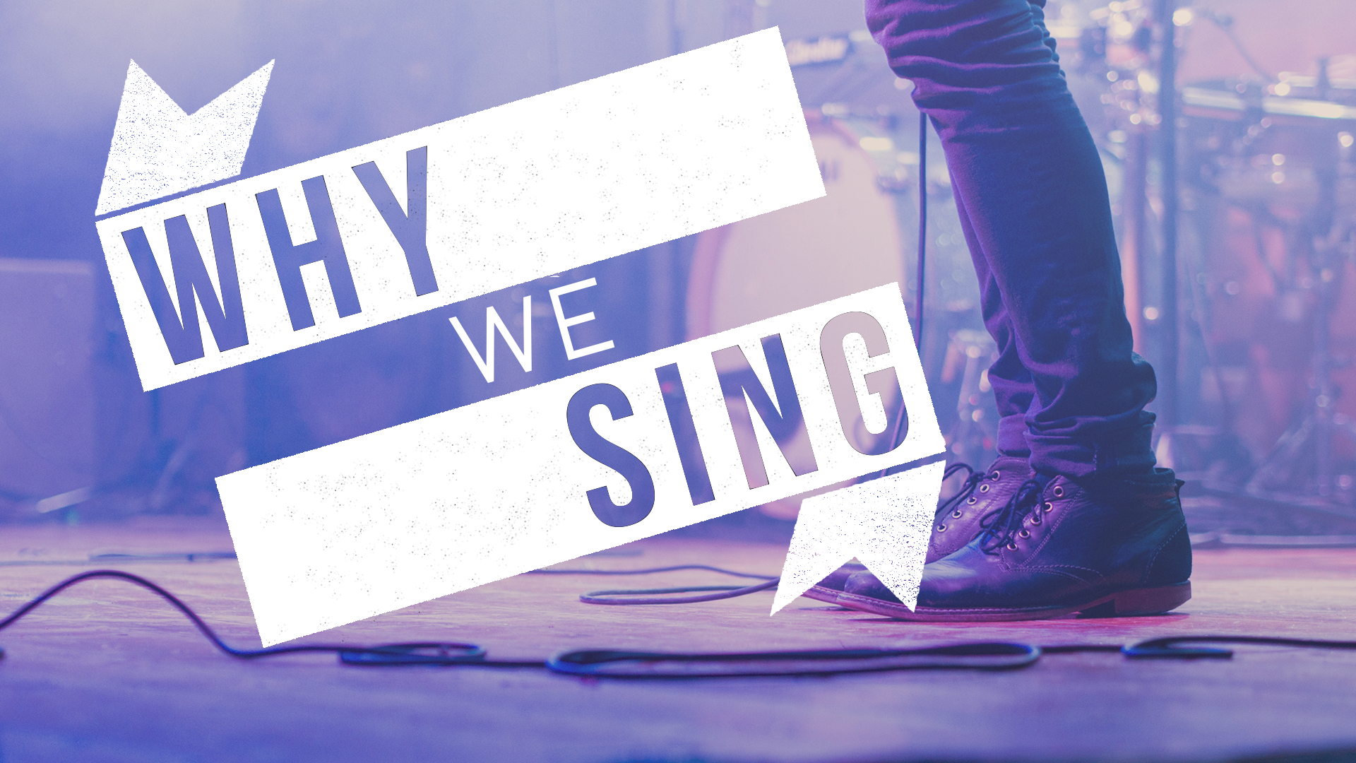 WHY WE SING graphic