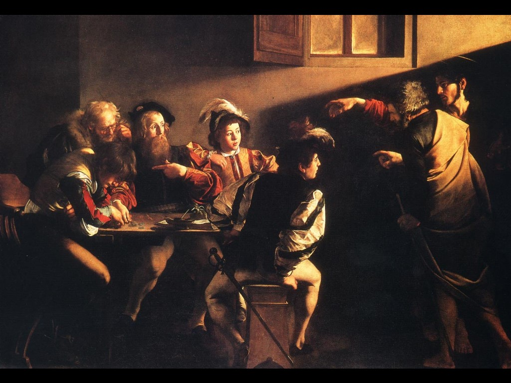 Call of Saint Matthew by Caravaggio