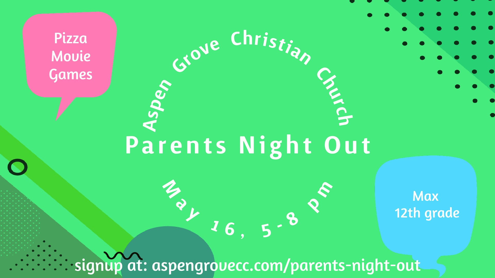 Parent's Night Out Graphic