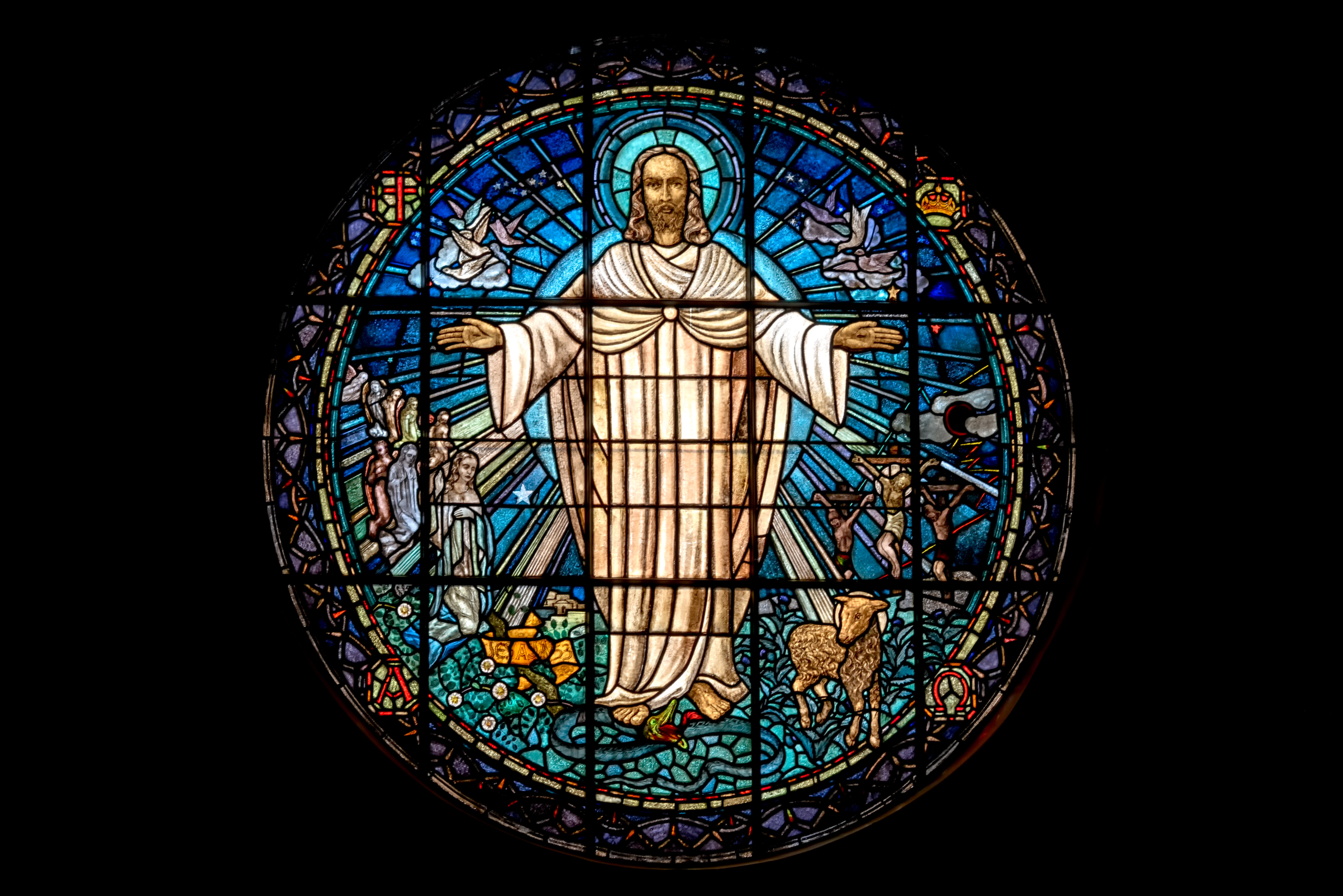 Stained Glass Jesus image