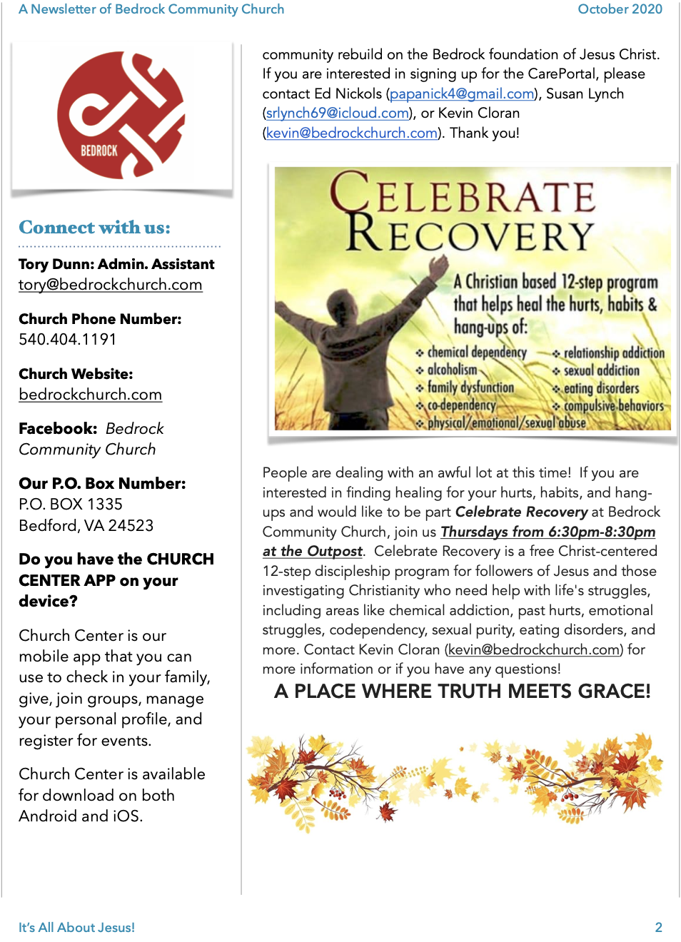 Newsletter Oct 2020 page 2