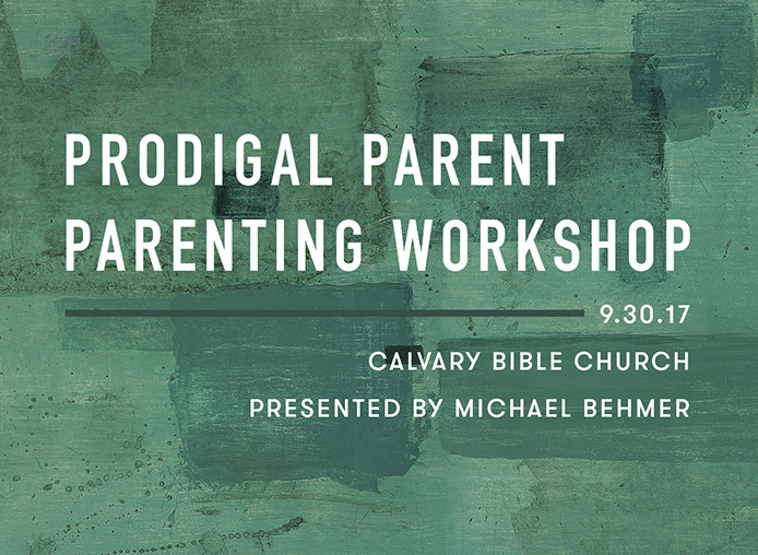 Prodigal Parent Workshop banner