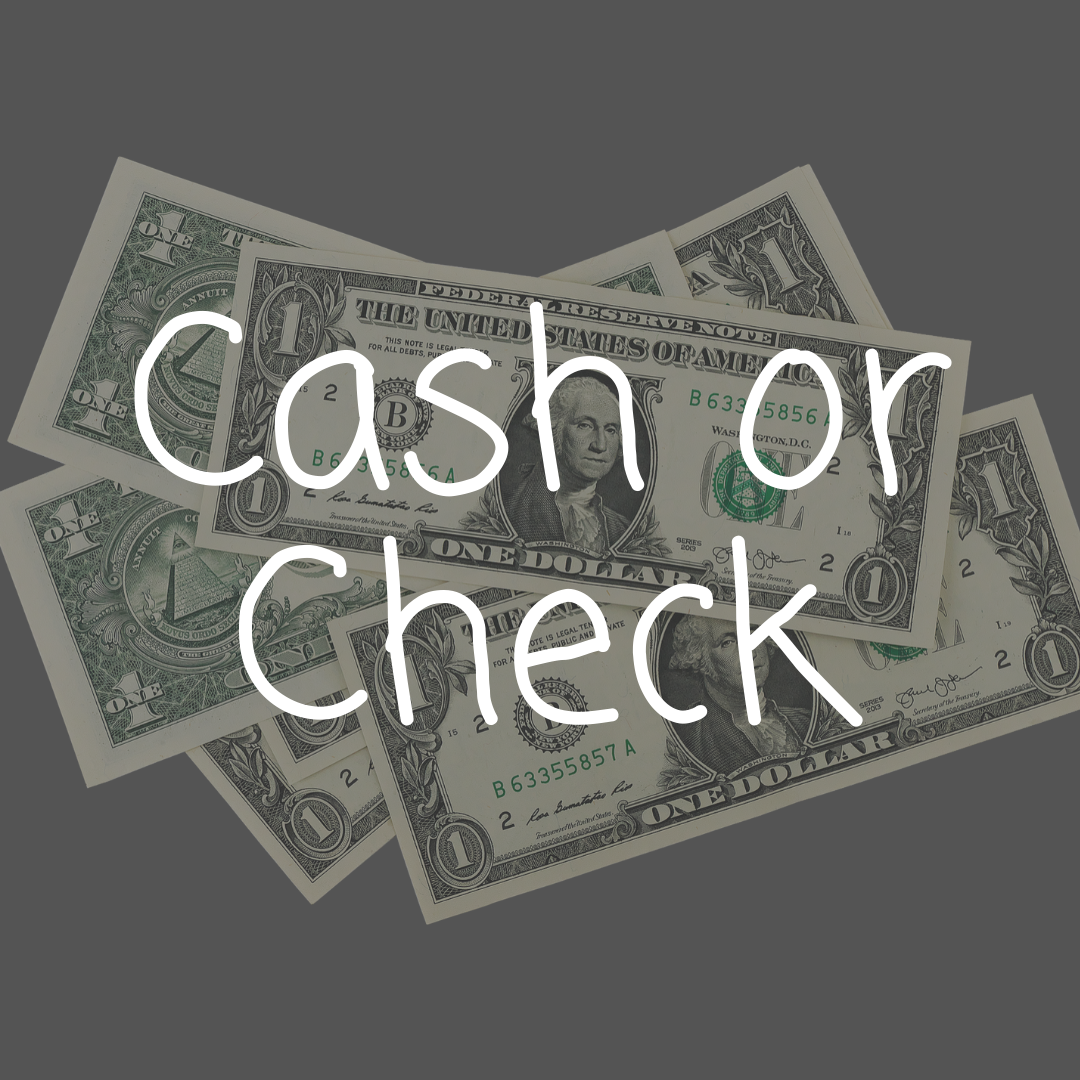 ways to give - cash or check