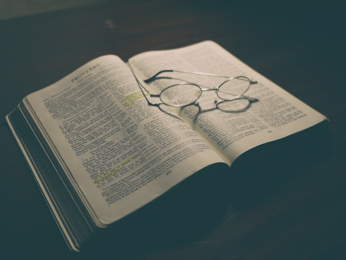 Bible with Glasses