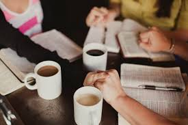 women prayer & coffee image