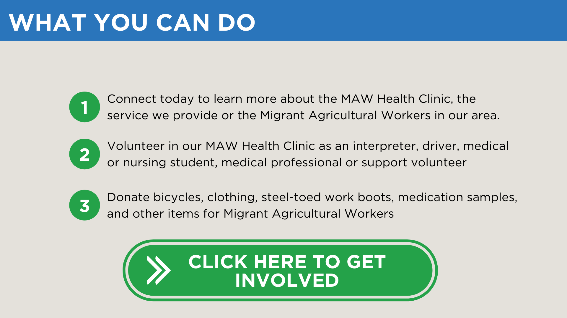 MAW Clinic - What you can do 2