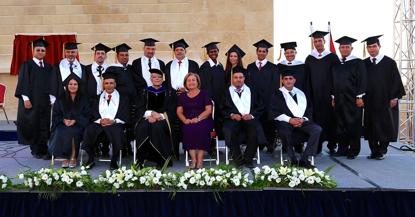 Graduating Class with Dr. Imad and wife