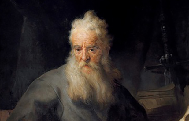 Apostle Paul as depicted by Rembrandt