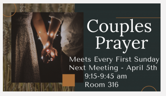 Couples Prayers - April 5th