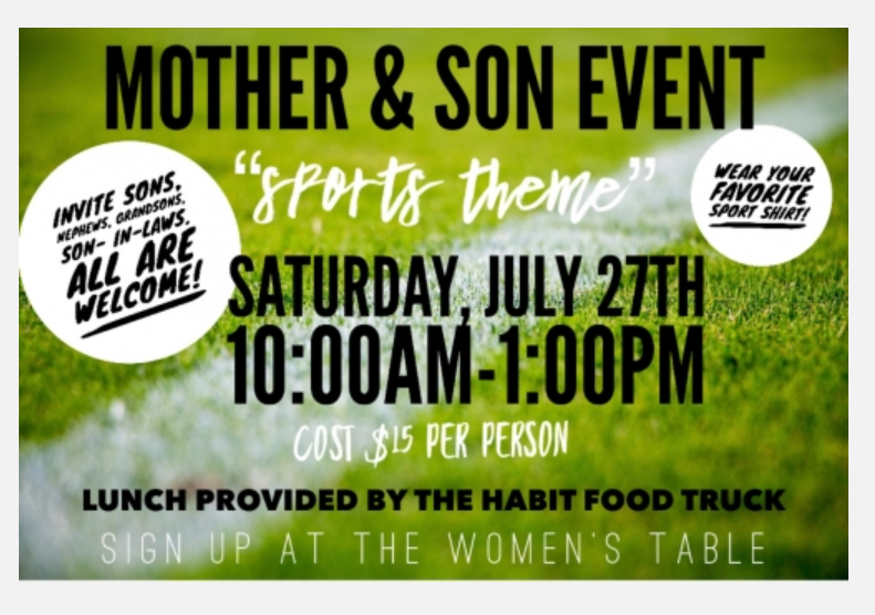 Mother and Son Event 7-27