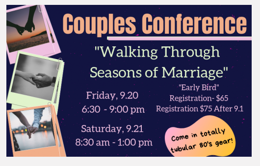 Sept 20 - Couples Conference