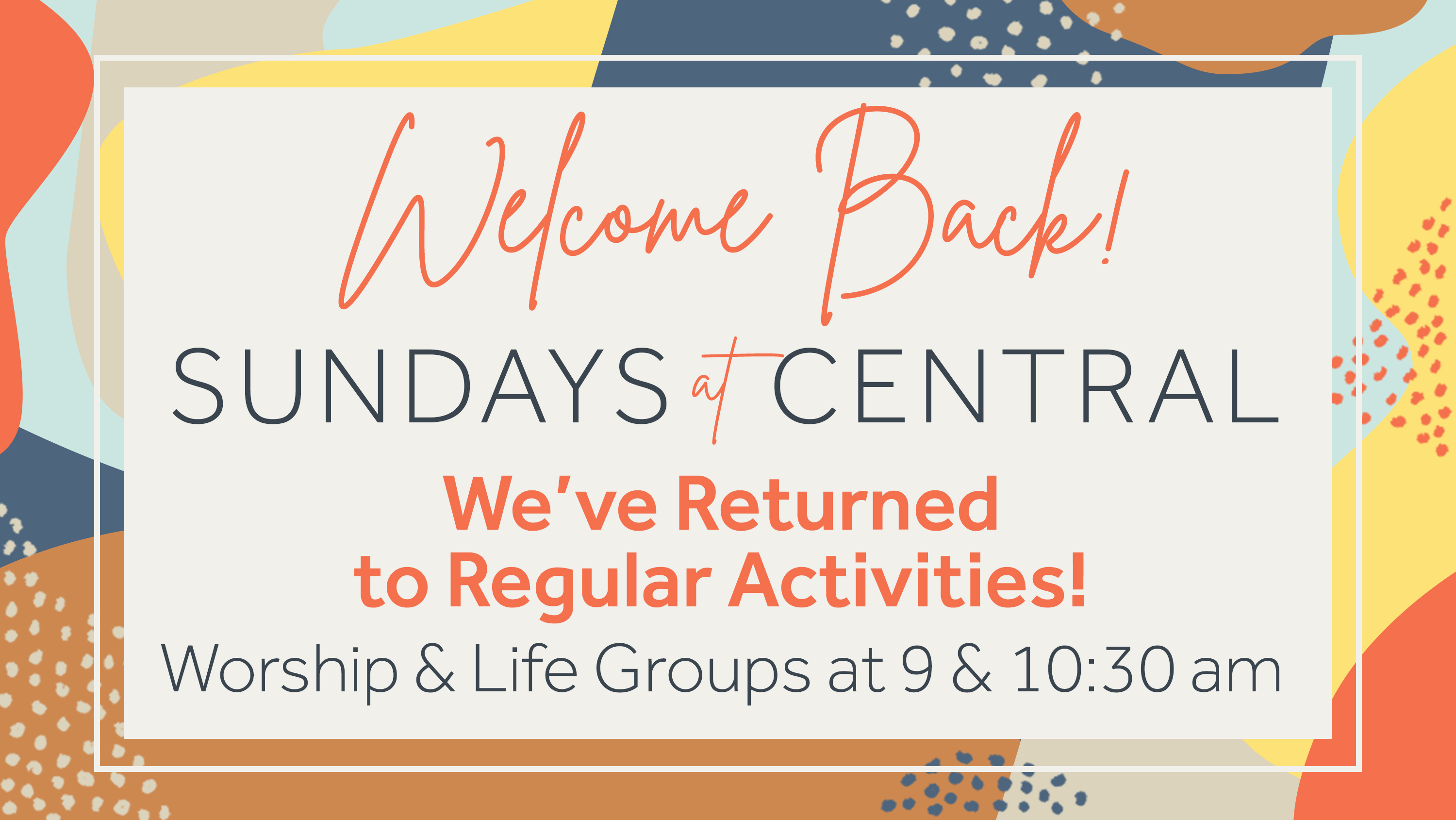 1.2  Sundays at Central