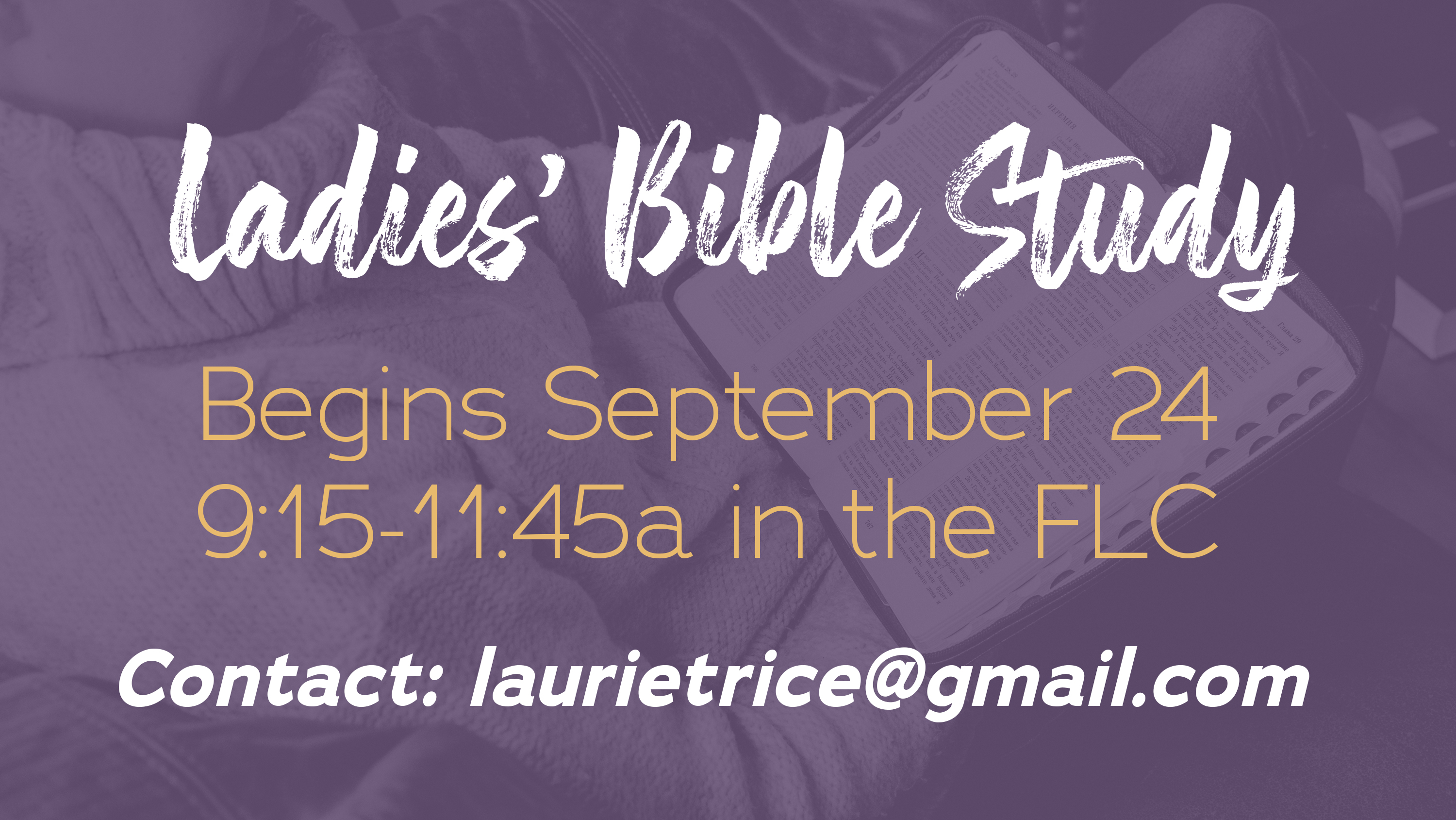 2.5  Ladies Bible Study ad FALL 2020