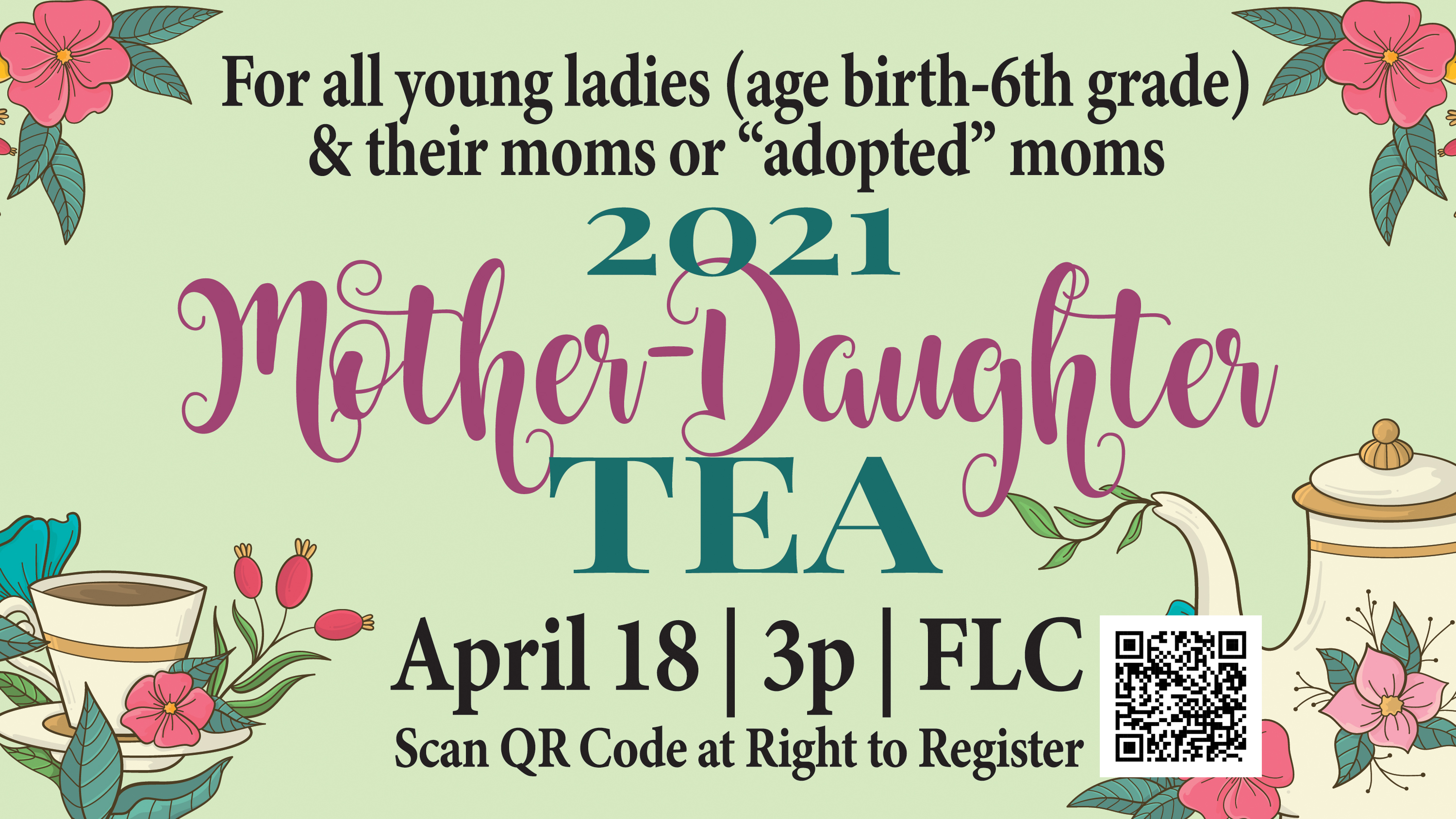 3  Mother-Daughter Tea ad 2021 image