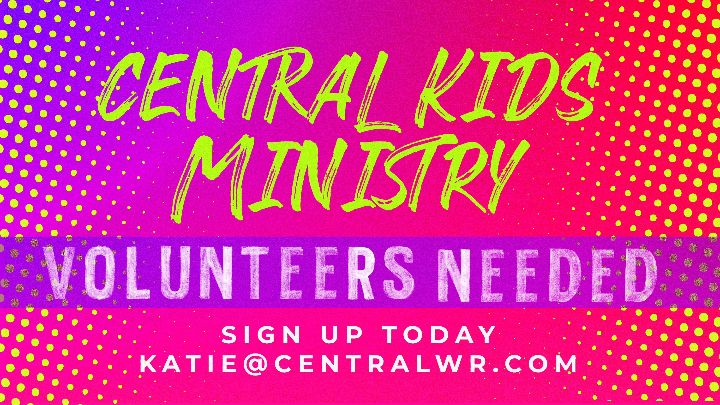 4  Kids Ministry Volunteers Needed