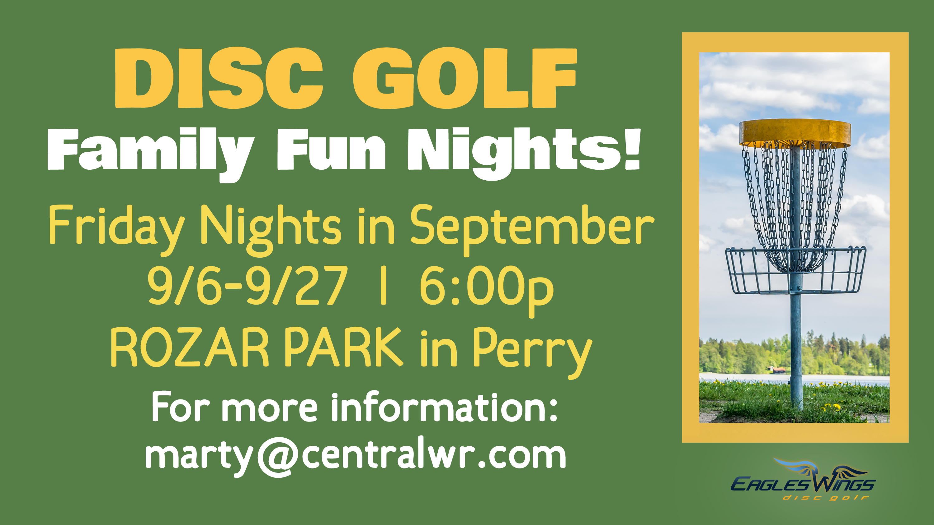 7.5  Disc Golf Family Fun Nights ad 2 image