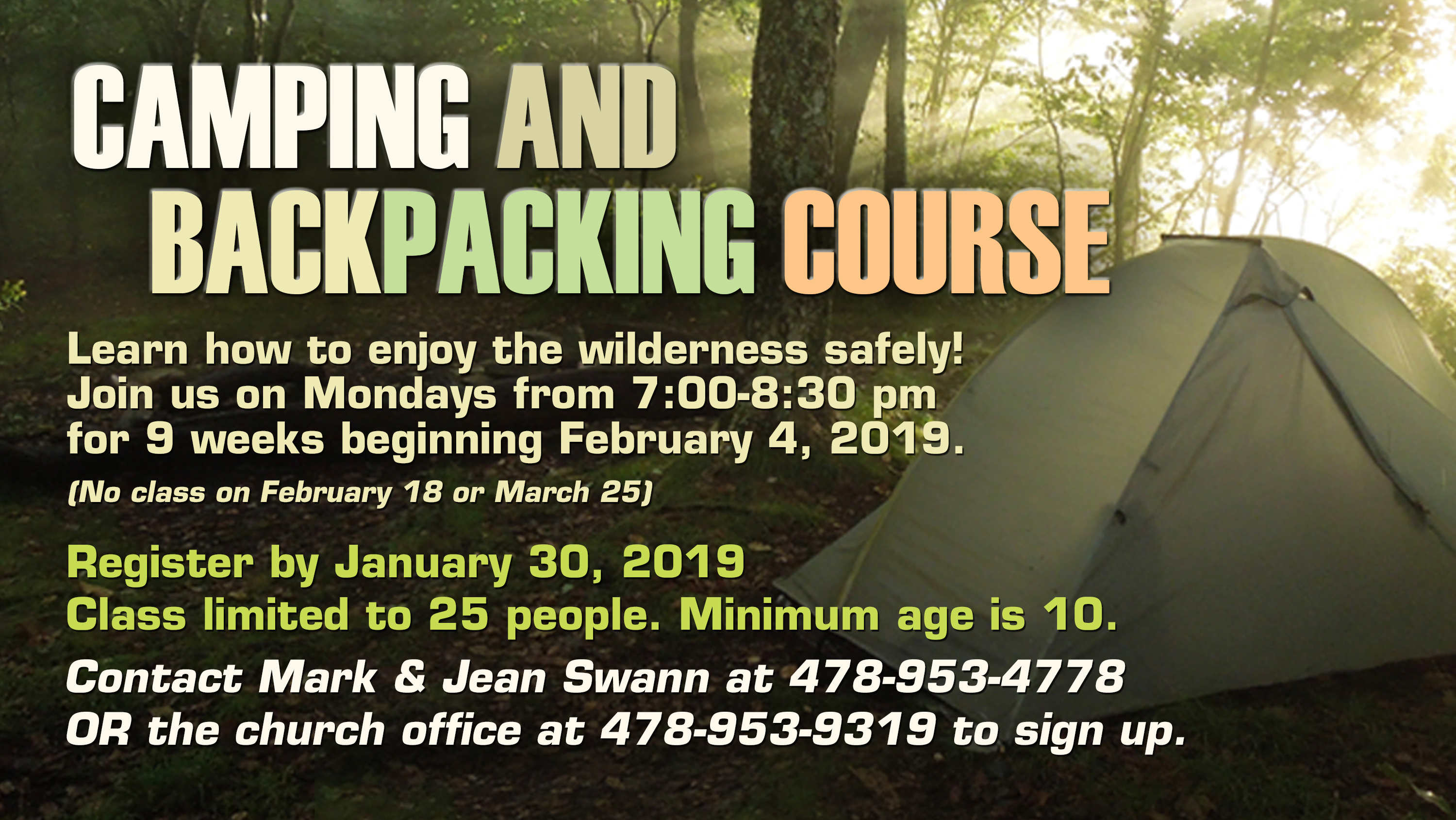 9.1  Camping and Backpacking Class ad