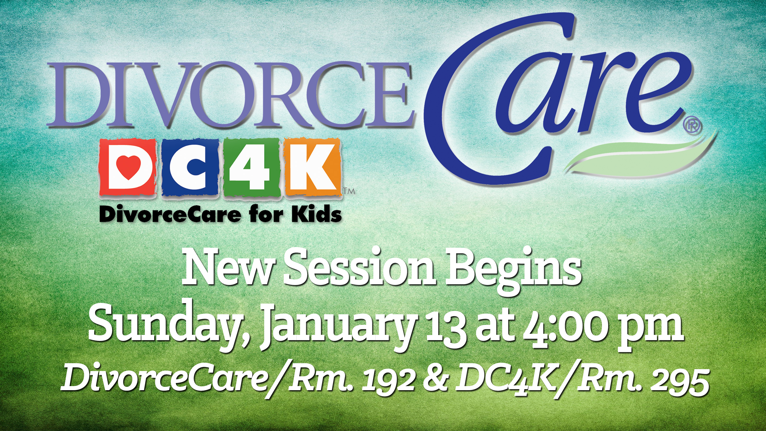 9  DivorceCare and DC4K new sesssion ad