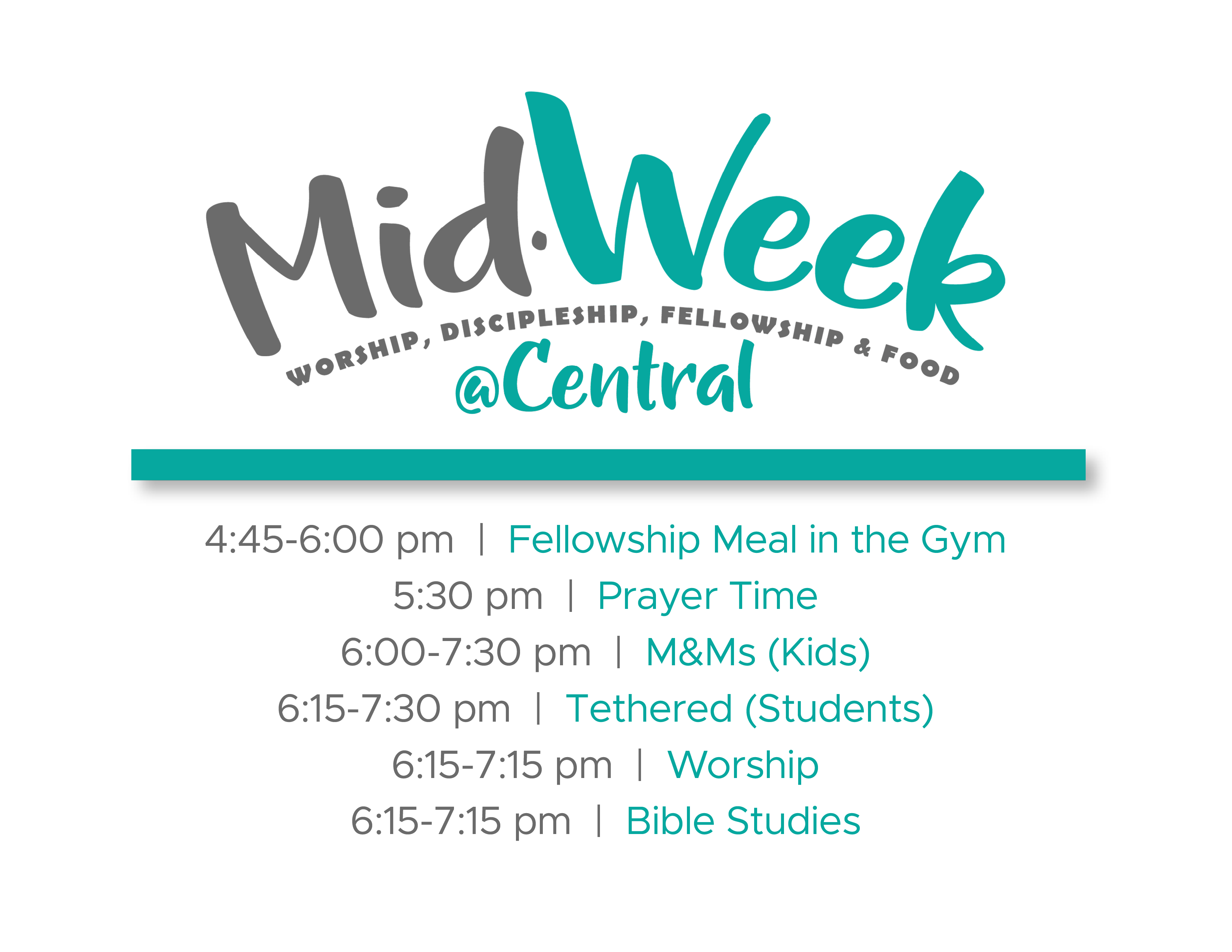 Midweekly Schedule