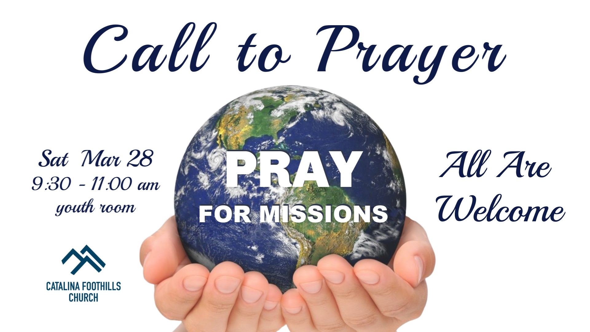 Call to Prayer March 2020 Slide image