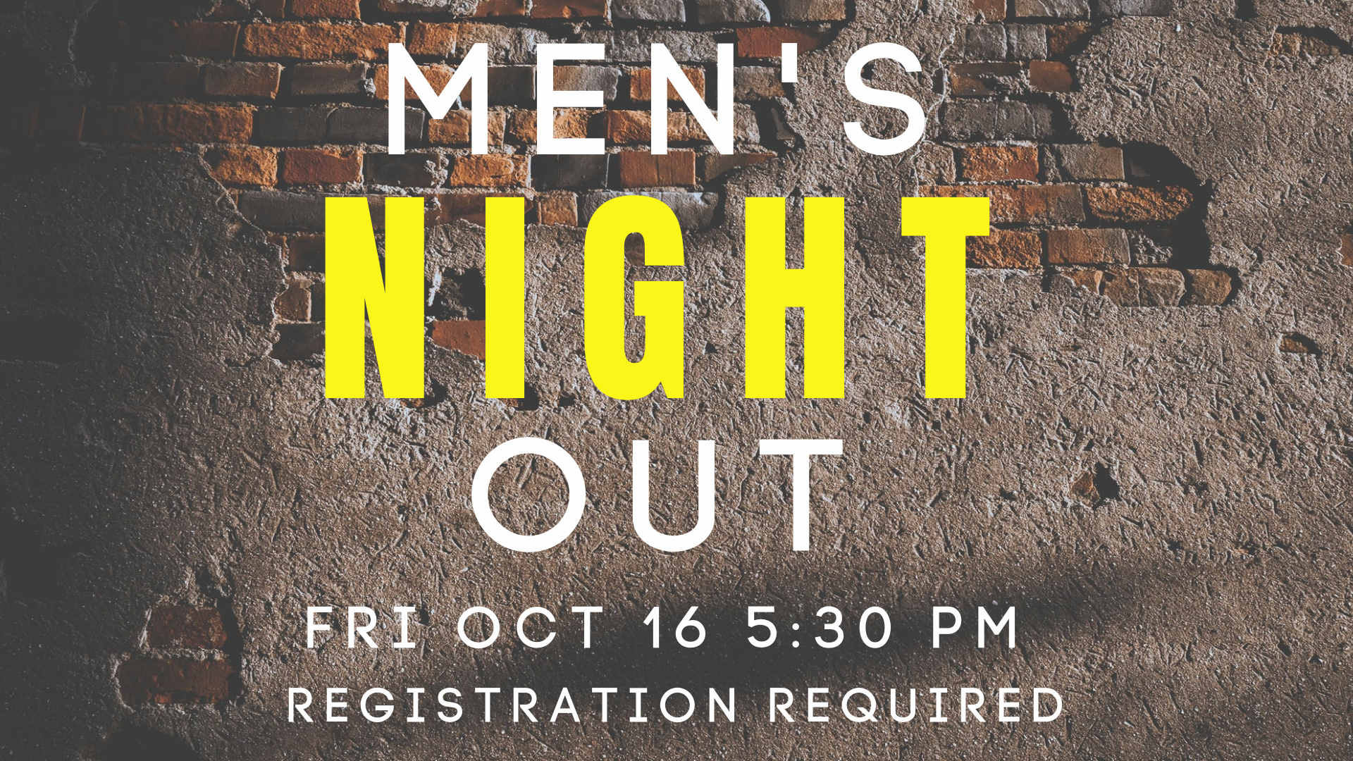 Men's Night Out registration required