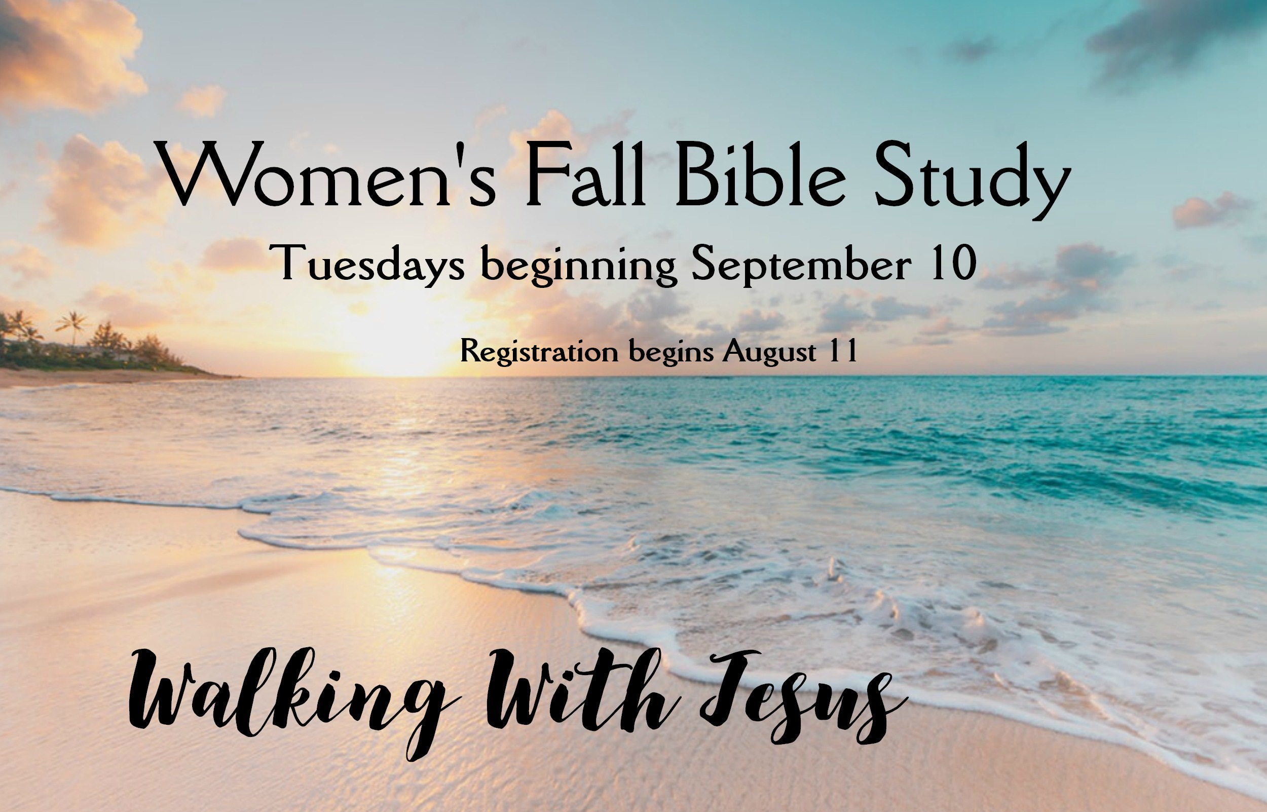 Walking with Jesus Registration begins Aug 11 image