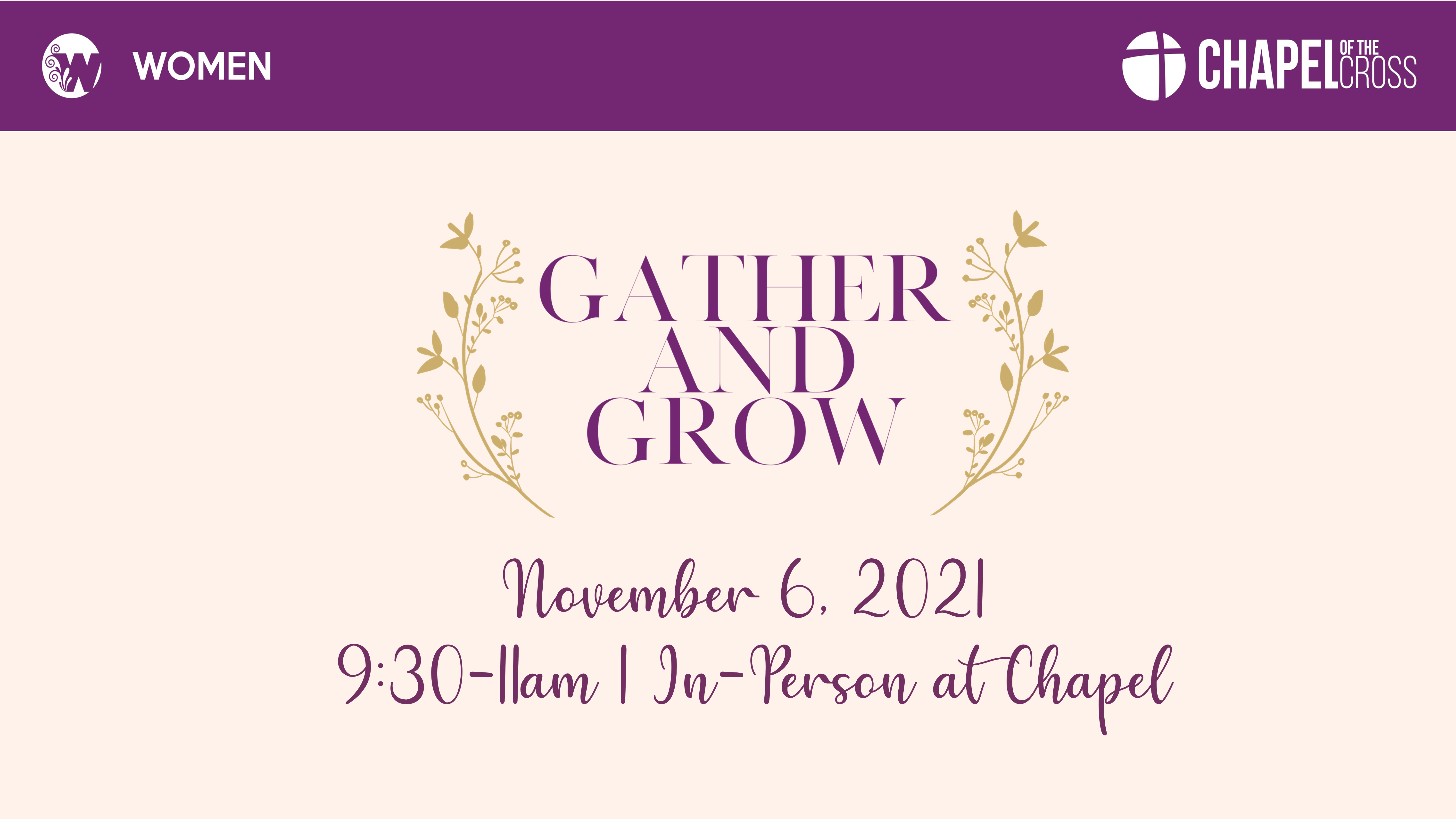 November Gather and Grow Announcement