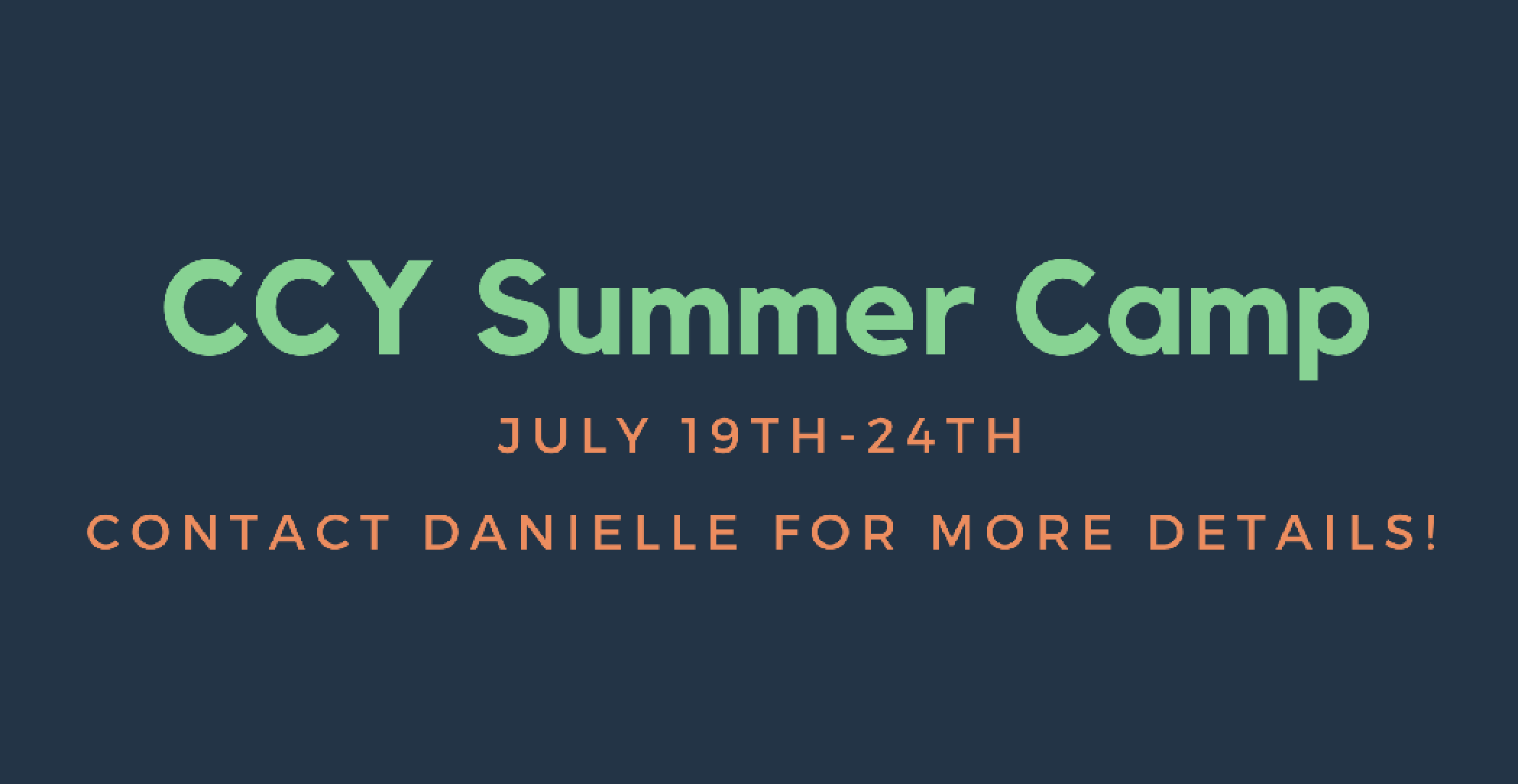CCY Summer Camp