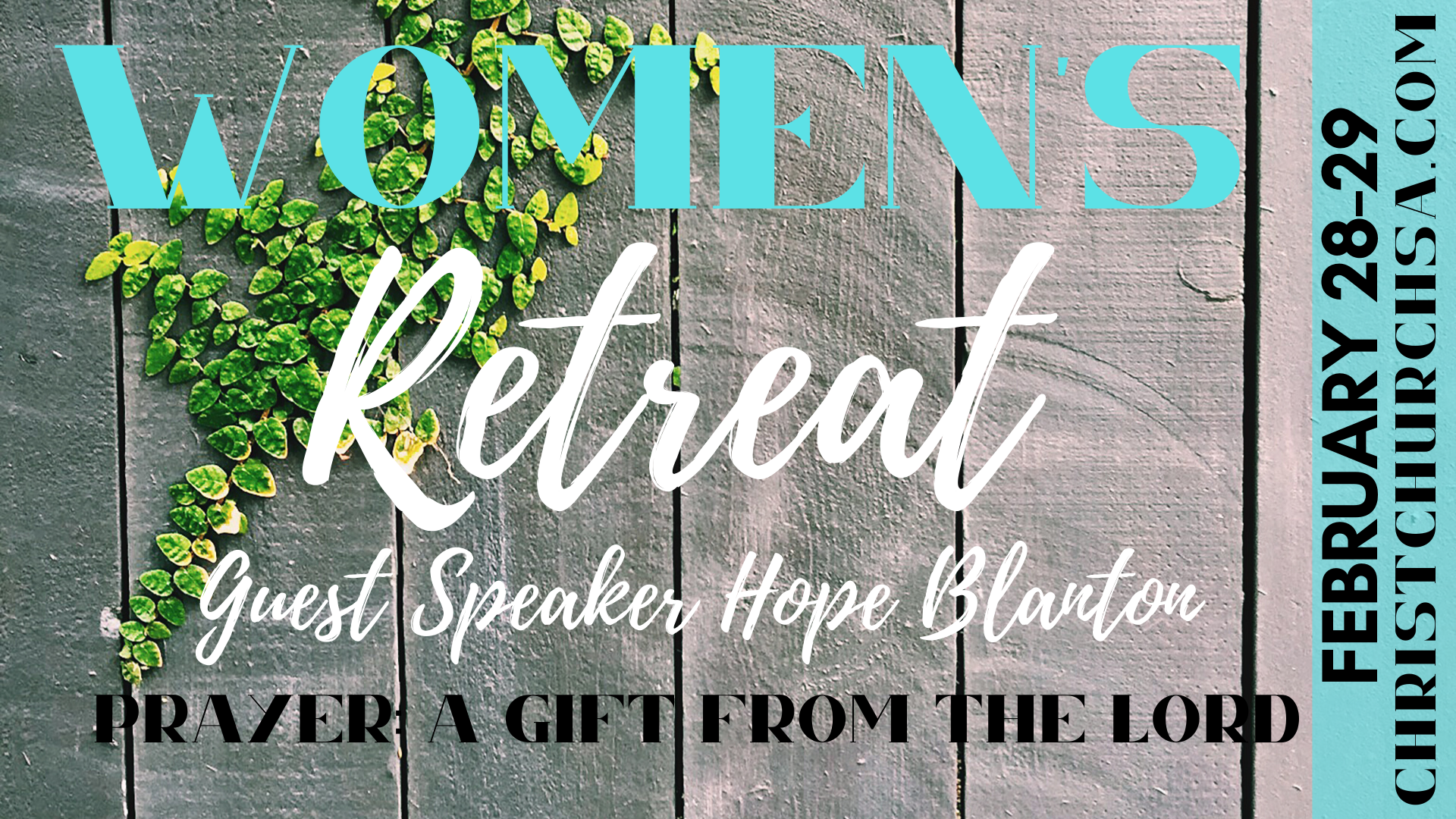 2020 Women's Retreat Speaker  Subject Date image