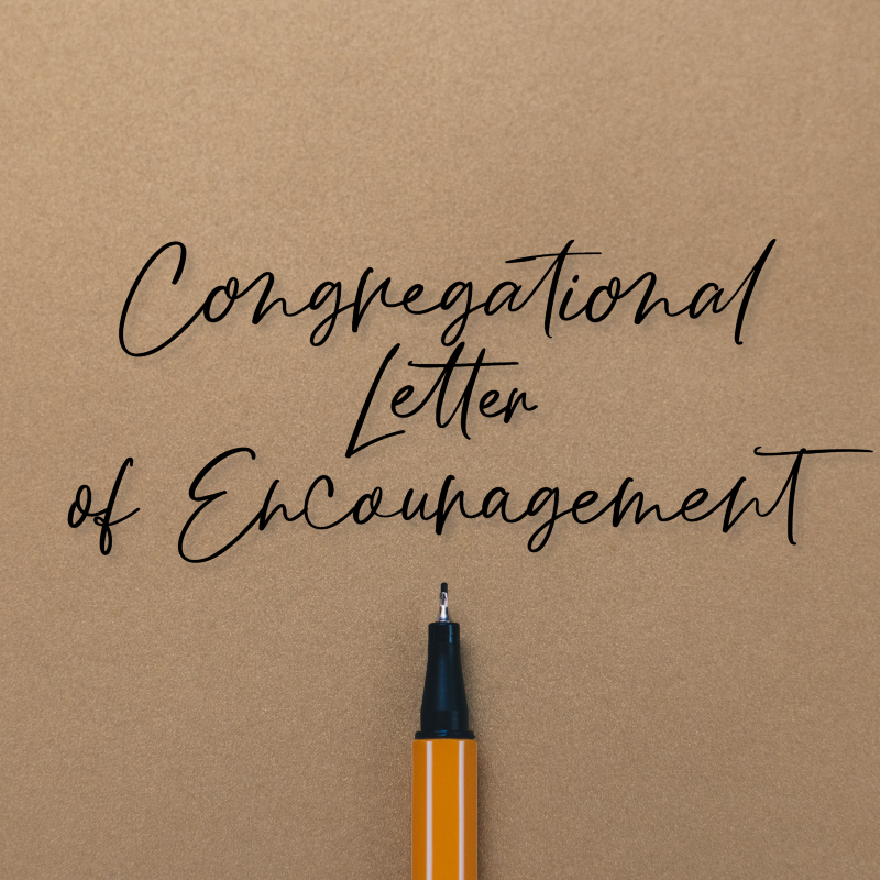 Congregational Letter of Encouragment WU