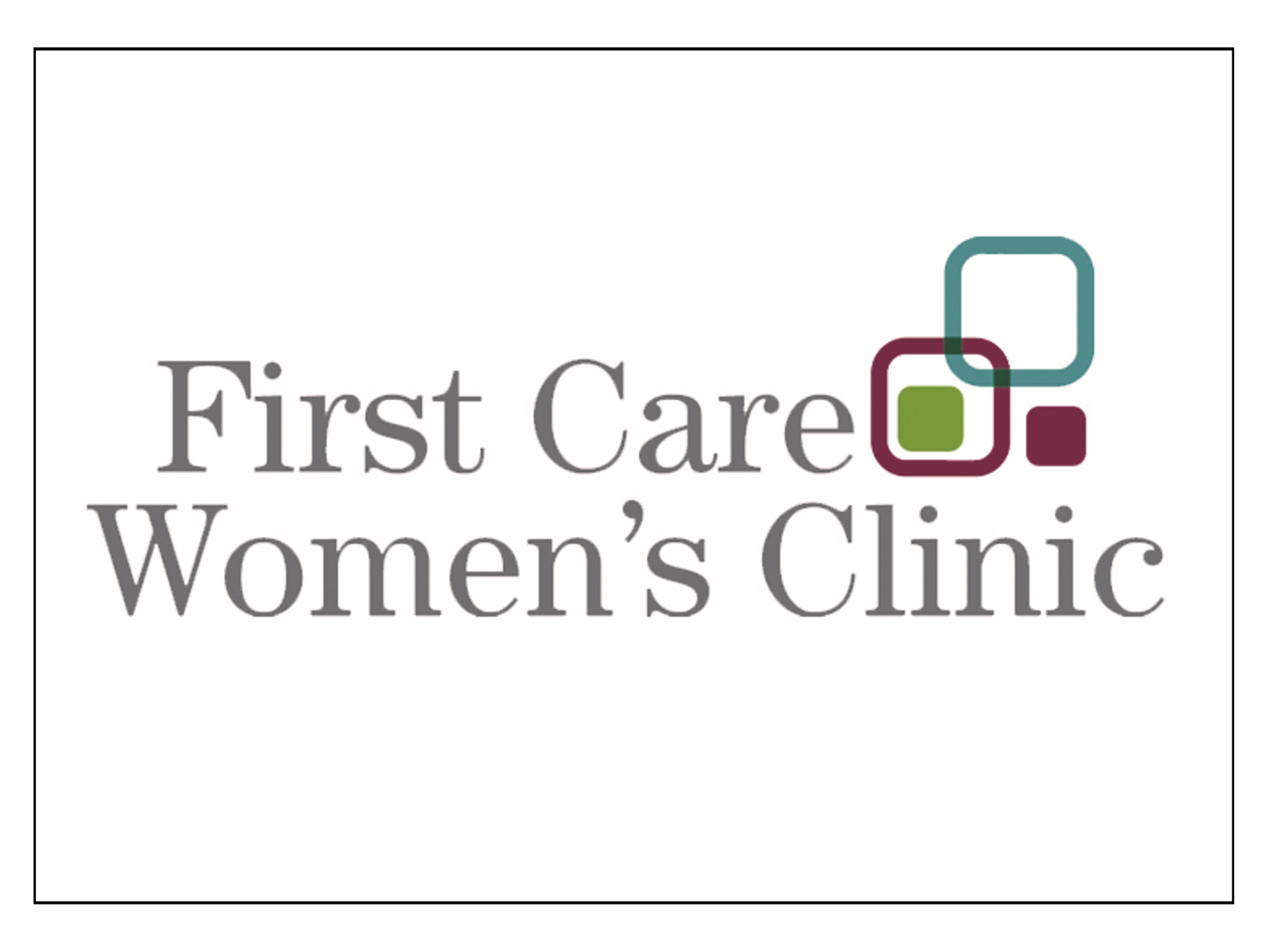 First Care Women's Clinic Logo Border