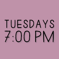 Tuesdays 7_00pm Loverstruck font 200x200