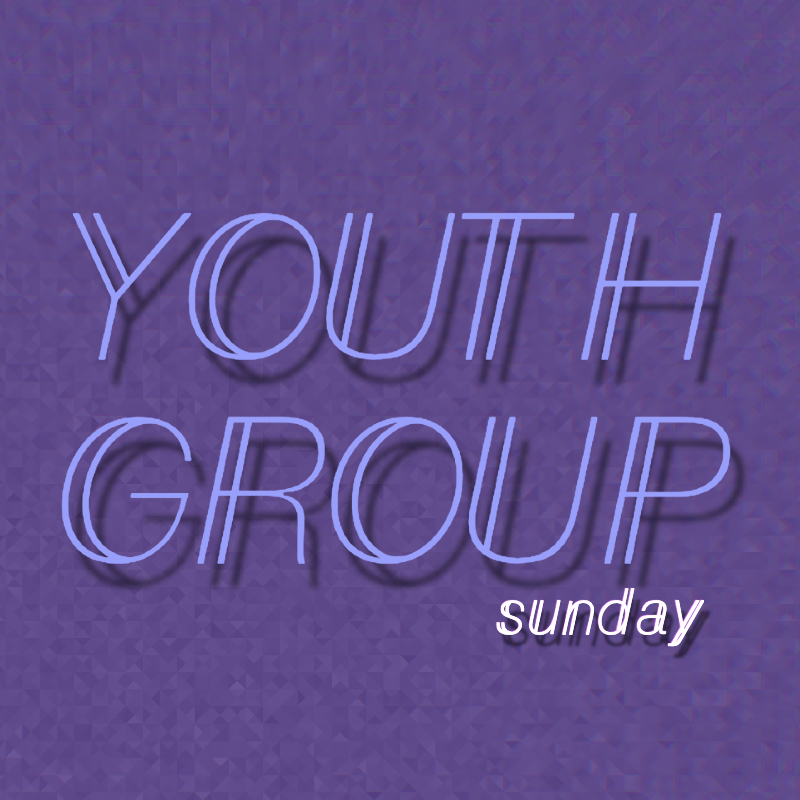 Youth Group Sunday white letters WU