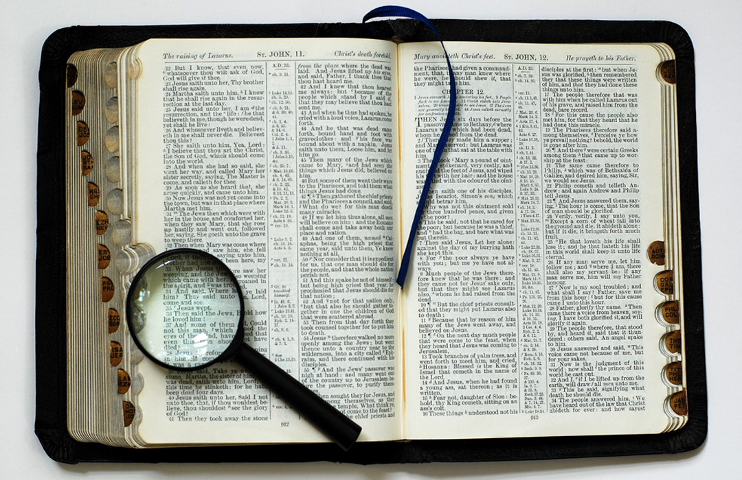 events web18 bible magnifying glass