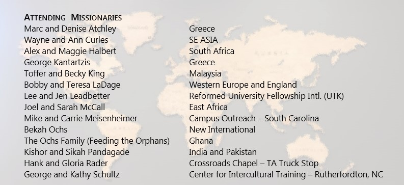 missionaries attending