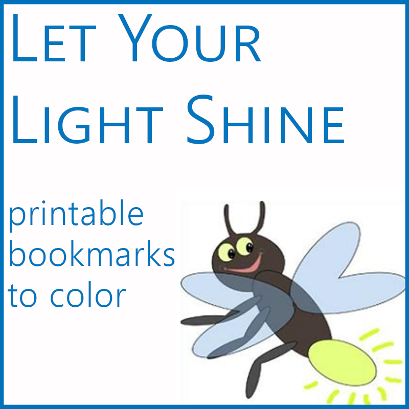 summer kids light bookmarks