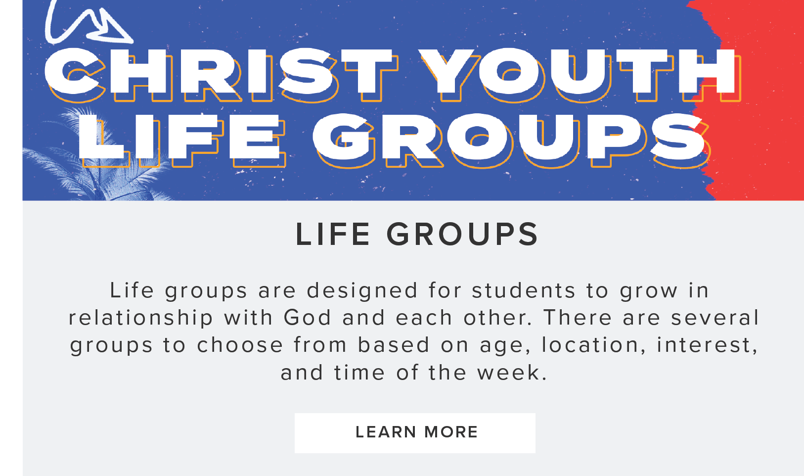 Youth Life Groups Tab
