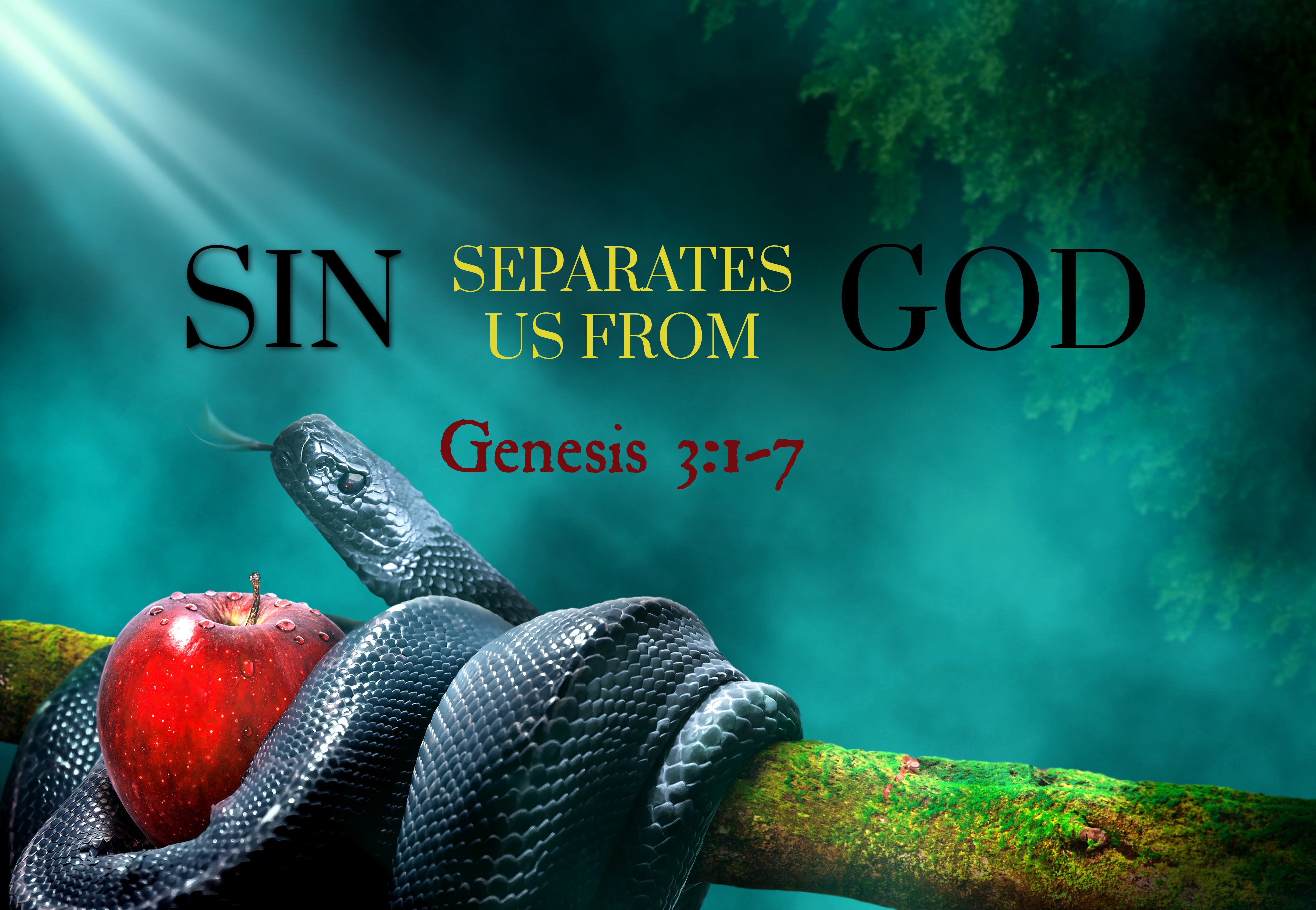 Sin separates from God image