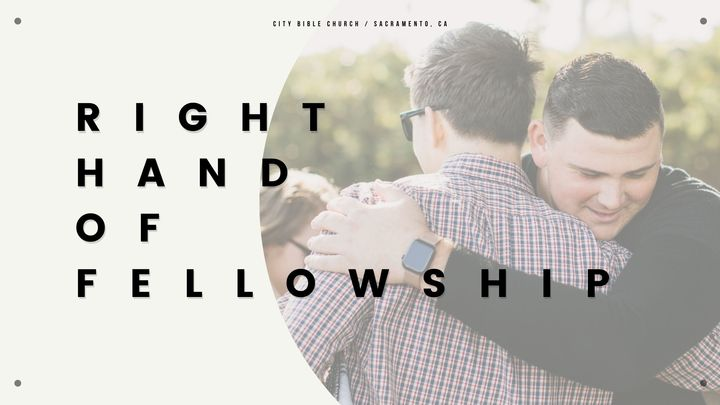 Right Hand of Fellowship 2021 image