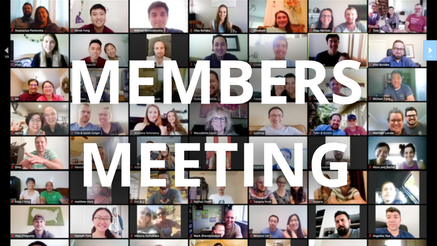 Zoom Members Meeting