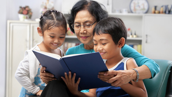 grandparent-reading