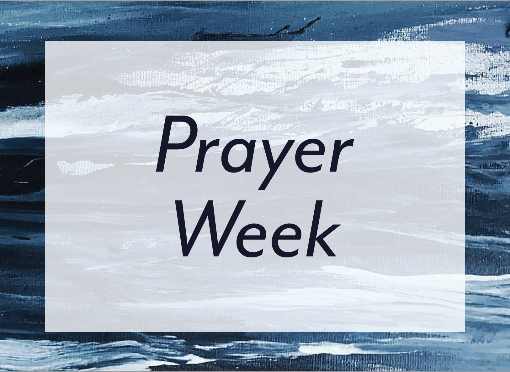 prayer week 2020.3
