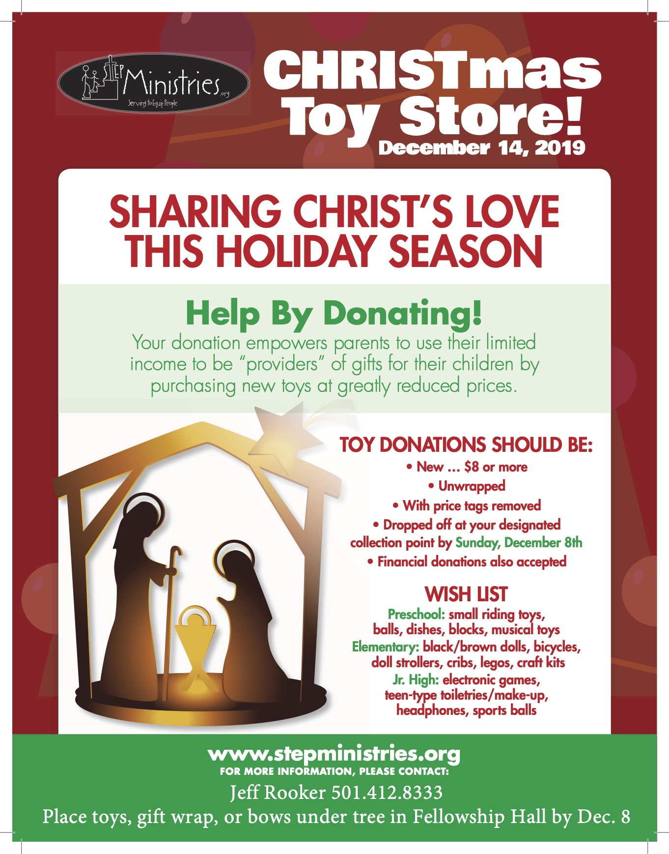STEP Christmas Store Flyer -  JR