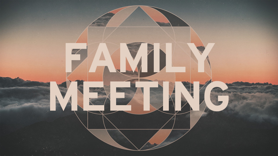 Family Meeting Blank image