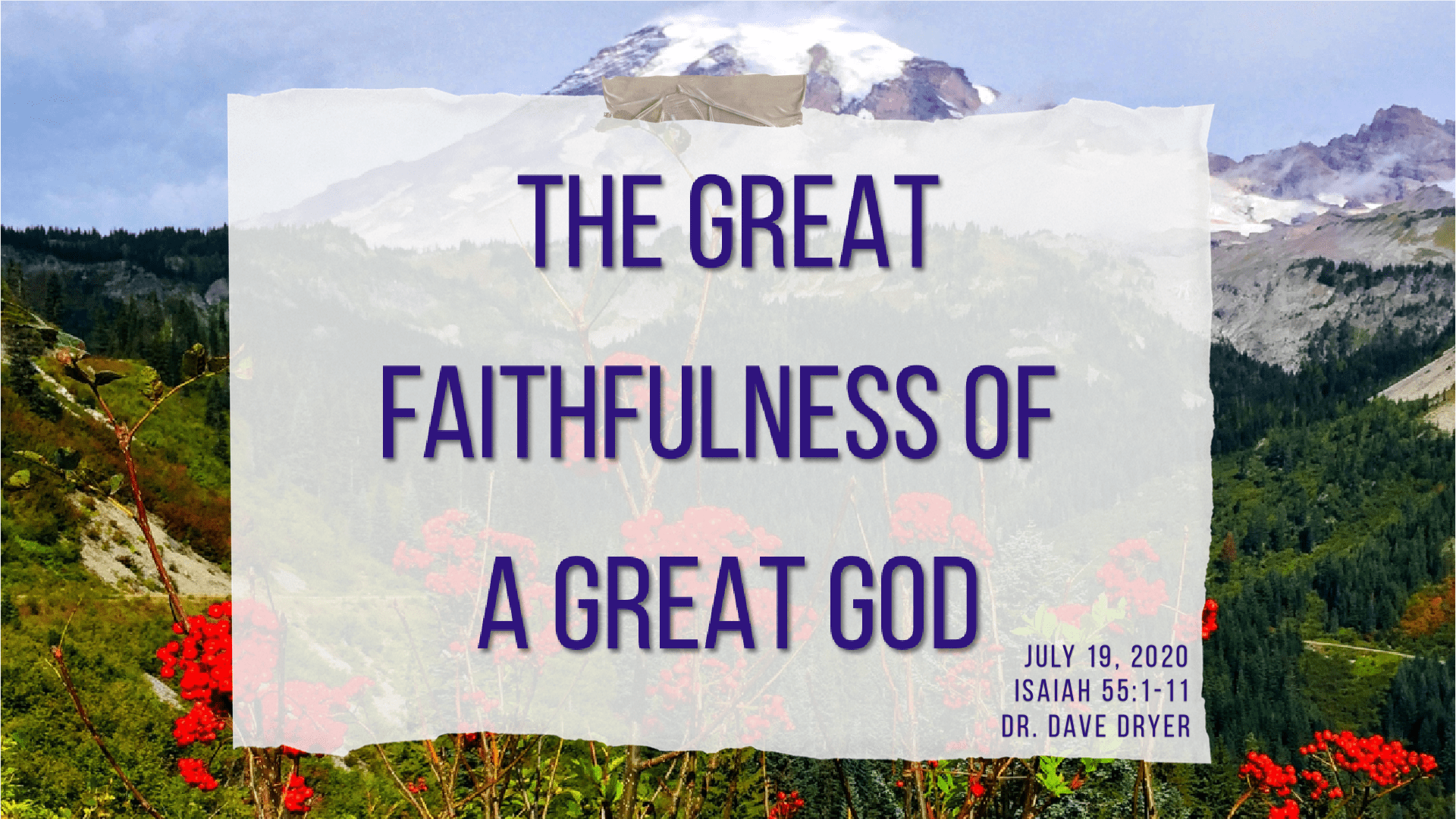 The Great Faithfulness of a Great God-min