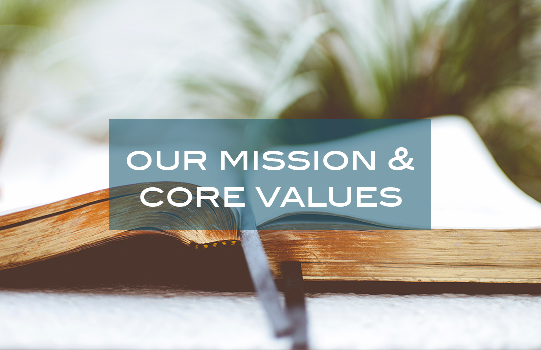 our mission & core values. header