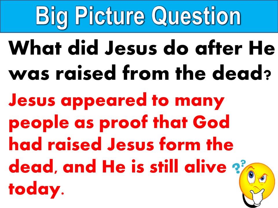Big Picture Question U33 L2 - Jesus Appeared to His Disciples
